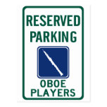 Oboe Players Parking Postcard