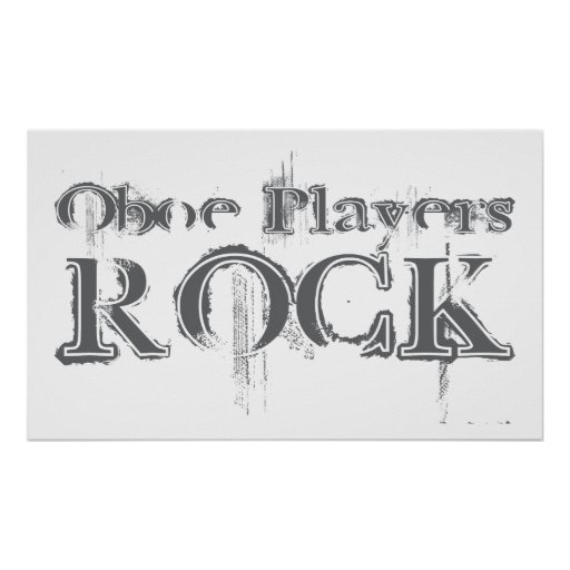 Oboe Players Rock Poster