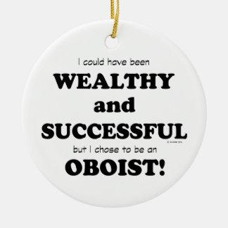 Oboe rico y acertado adorno de navidad