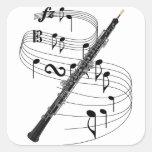 Oboe Square Sticker