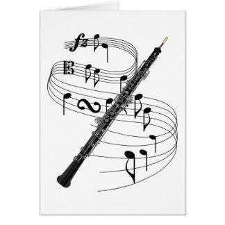 Oboe Tarjeta De Felicitación
