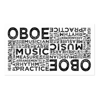 Oboe Typography Double-Sided Standard Business Cards (Pack Of 100)