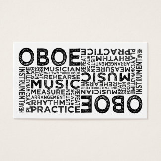 Oboe Typography Business Card