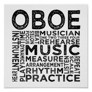 Oboe Typography Posters