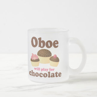 Oboe Will Play For Chocolate Frosted Glass Coffee Mug