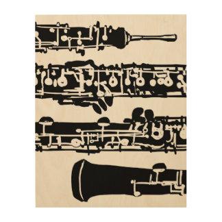 "Oboe Wood Panel | 11"" x 14"" Wood Prints"