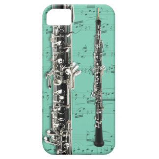 Oboe y caja del teléfono de la partitura. Color de iPhone 5 Funda
