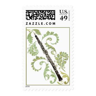 Oboe y follaje sello
