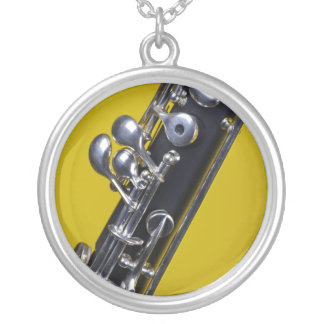 Oboe Yellow Background Image Necklace
