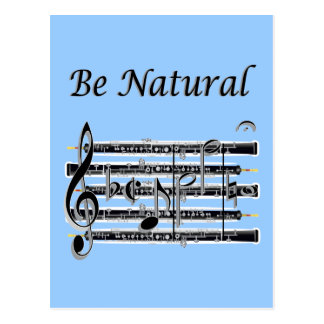 Oboists Know How to B Natural Postcard