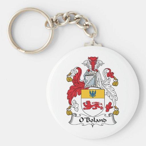 O'Boland Family Crest Basic Round Button Keychain