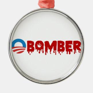 OBOMBER - Obama/belicista/Siria/mal/Terrorist/NSA Ornamento De Navidad