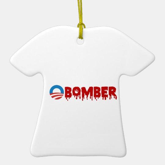 OBOMBER - Obama/Warmonger/Syria/Evil/Terrorist/NSA Ceramic Ornament