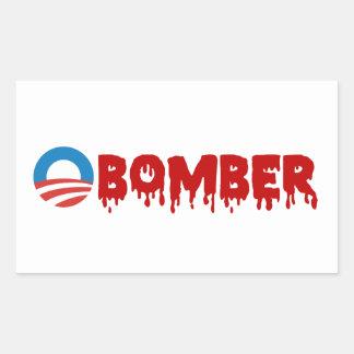OBOMBER - Obama/Warmonger/Syria/Evil/Terrorist/NSA Rectangular Sticker