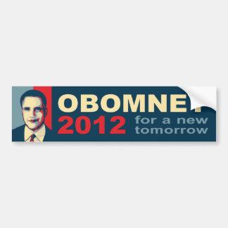 Obomney for president 2012 bumper stickers