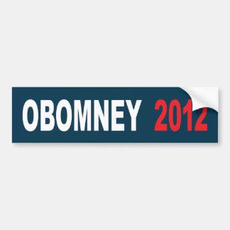 Obomney for president 2012 bumper sticker