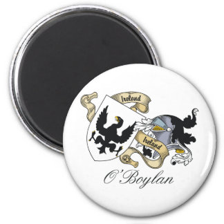 O'Boylan Family Crest 2 Inch Round Magnet