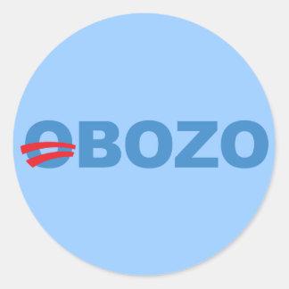 Obozo Obama Classic Round Sticker