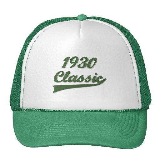 Obra clásica 1930 gorras