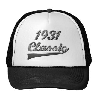 Obra clásica 1931 gorras