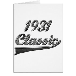 Obra clásica 1931 tarjeta de felicitación