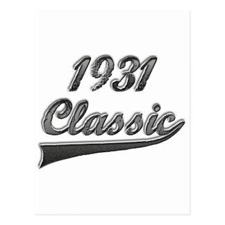 Obra clásica 1931 tarjetas postales
