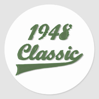 Obra clásica 1948 pegatina redonda