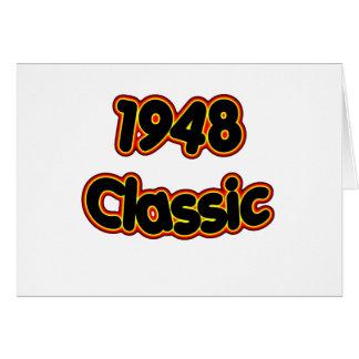 Obra clásica 1948 tarjeta de felicitación