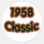 Obra clásica 1958 pegatina redonda
