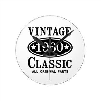 Obra clásica 1960 del vintage reloj de pared