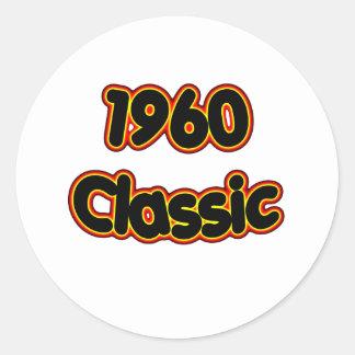 Obra clásica 1960 etiqueta redonda