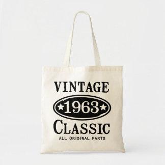 Obra clásica 1963 del vintage bolsa lienzo