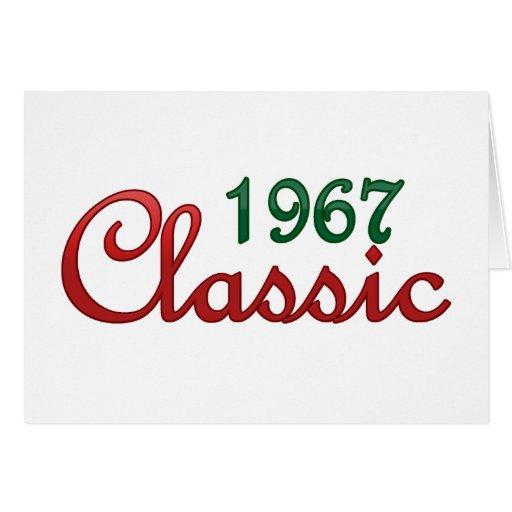 Obra clásica 1967 tarjeta de felicitación