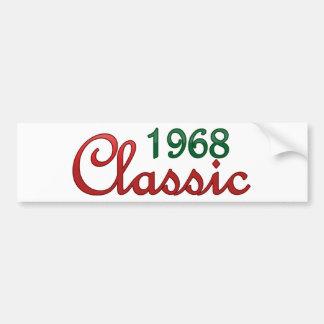 Obra clásica 1968 pegatina para auto