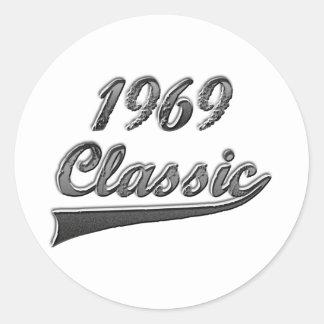Obra clásica 1969 pegatina redonda