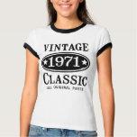 Obra clásica 1971 del vintage playera