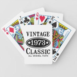 Obra clásica 1973 del vintage barajas de cartas