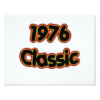 Obra clásica 1976 invitación 10,8 x 13,9 cm