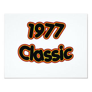 Obra clásica 1977 comunicado personalizado