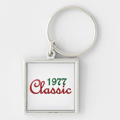 Obra clásica 1977 llavero personalizado