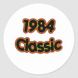 Obra clásica 1984 etiqueta redonda