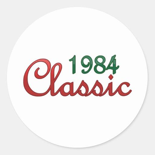 Obra clásica 1984 pegatina redonda