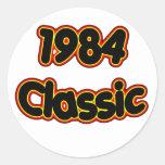Obra clásica 1984 pegatinas redondas