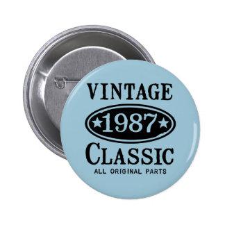 Obra clásica 1987 del vintage pin redondo 5 cm