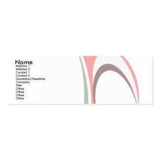obra clásica abstracta tarjetas de visita mini