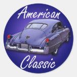 Obra clásica americana Cadillac 1949 Pegatina Redonda