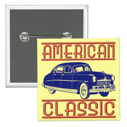 Obra clásica americana pin cuadrada 5 cm