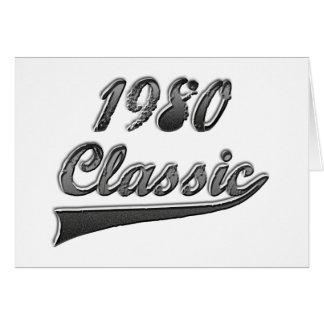Obra clásica an o 80 tarjeta de felicitación