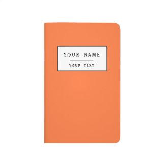 Obra clásica anaranjada coloreada cuaderno grapado