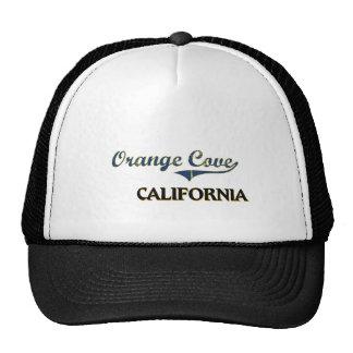 Obra clásica anaranjada de la ciudad de California Gorros